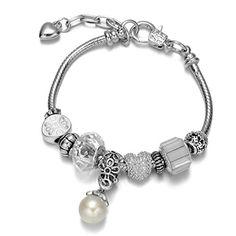 Onnea® Clear Rhinestone Dainty Charms Bracelets with Pearl Pendant Onnea http://www.amazon.com/dp/B015PQX3MU/ref=cm_sw_r_pi_dp_6Qnbxb0GMD4DH