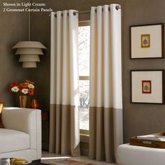 Kendallin Color Block Grommet Curtain Panels