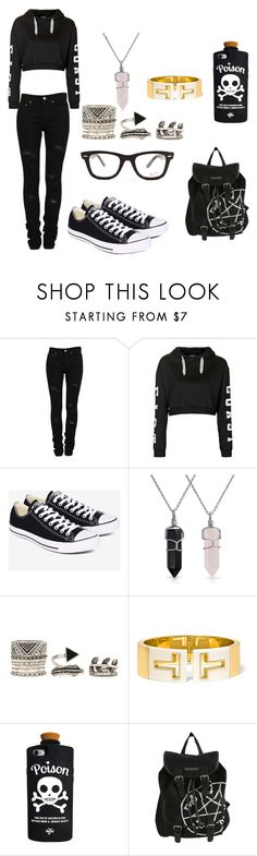 """""""#11"""" by hokuto-aya ❤ liked on Polyvore featuring Yves Saint Laurent, Topshop, Converse, Bling Jewelry, Forever 21, Tiffany & Co., Valfré and Ray-Ban"""