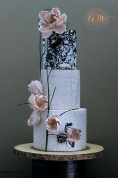 Cakes by Angela Morrison. Great trxture on the top tier and the overall cllour and design is perfect.