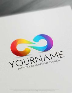 Online Create Modern Infinity Logo with the best Free Logo Creator