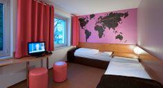 Barrierefreies Zimmer im B&B Hotel Hannover-Garbsen