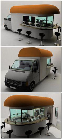 Food Truck Design Trailers Coffee Van New Ideas My Coffee Shop, Coffee Shop Design, Cafe Design, Coffee Maker, Coffee Shops, Coffee Shop Branding, Coffee Club, Espresso Maker, Coffee Coffee