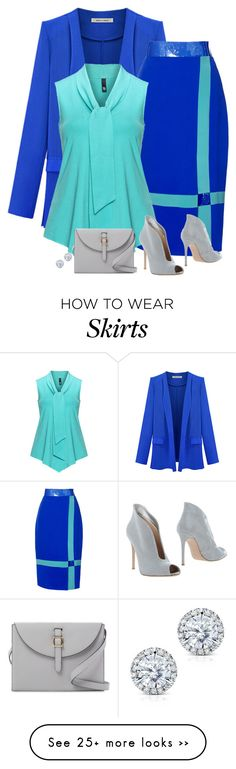 """love this skirt!"" by divacrafts on Polyvore featuring Roksanda, Manon Baptiste, Gianvito Rossi, Meli Melo, Kobelli and Original"