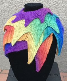 Free Knitting Pattern for Festival Shawl
