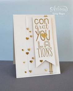 Stampin' Up ideas and supplies from Vicky at Crafting Clare's Paper Moments: Celebrate a golden day with Stampin' Up!