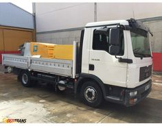 MAN TGL 8.210 stationary concrete pump PUTZMEISTER P715 DLT 0703 compressor COMP AIR