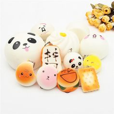 Toys & Hobbies Bright 35pc Exquisite Mini Kawaii Panda Squishyed Toy Charm Straps Soft Bread Donuts Squishying Toys Novelty Gags For Kids Childern Novelty & Gag Toys