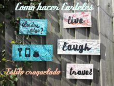 Super carteles estilo craquelado -  Super crakle style signboard