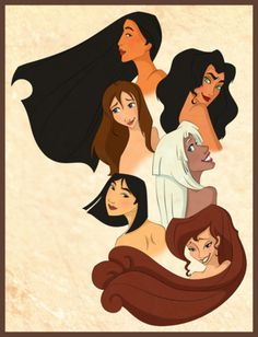 """the disney non-princesses"" Although I've always considered Pocahontas and Kida as princesses because they are each daughters of a ruler of some kind."