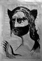 Cat Man ink painting | Smokypixels | Contemporary Fine Art Gallery | Buy original paintings and art prints online