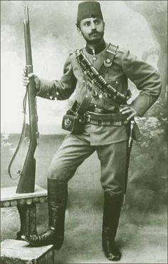 WW1, Turkish soldier, 1914.