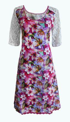 Elizz' Jurken Sweet Cupcakes, Diy Fashion, Floral Tops, Leggings, Diy Ideas, How To Make, Sewing, Dresses, Flowergirl Dress