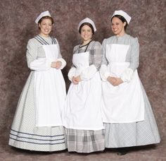 Civil War Nurse Description hat, cuffs, apron (dress not included) Size ON - One Size Gender Female Fee $12.00