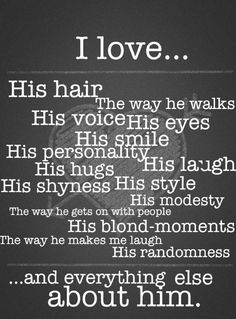 Things I love about him. Perfect