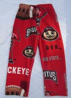 Buckeyes fleece pajama pants sizes to XL men by livenlovecreations on Etsy Pajama Bottoms, Pajama Pants, New Baby Gifts, Gifts For Her, Buckeyes, Baby Party, Boy Or Girl, New Baby Products, Sweatpants