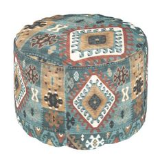 """Title : 3704, Tribal, Geometric, Chisholm Pouf  Description : Tribal-Geometric-Ethnic Patterns, include Stripes, Arrows, Triangles, Animal-Drawings, """"Woodland-Animals, Floral, Cross, Circles, Plus Signs, Broken Checks, Abstract, """"Spiritual-Inspired"""", """"Sacred-Geometric-Shapes, """"Symbolic-Shapes, Feathers, Mystique, Spirits, """"Indian-Language-Symbols"""", """"Native-American Symbols"""", """"Native-American-Pottery-Designs"""",  Product Description : check out our sire for full description"""