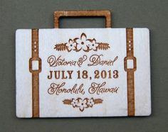 8 Travel-Themed Save-the-Dates Perfect for a Destination Wedding | Travel Wedding Invitations | Creative Save the Date Magnets, Photos, Luggage Tags | Suitcase