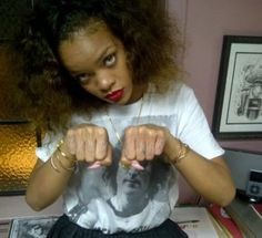 Not Rihanna hands in pussy join. happens