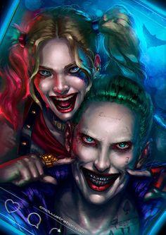 Cristian Melián C. @Cmcillustration Jul 4  Are you excited for #SuicideSquad ? #DCcomics #HarleyQuinn #Joker #cmcillustration #fanart @MargotRobbie @JaredLeto