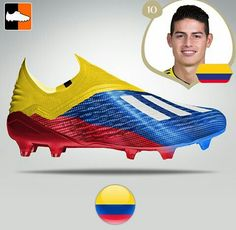 Cool Design for Colombia Team player James Rodriguez - Soccer Gear, Soccer Cleats, Soccer Players, Team Player, James Rodriguez, Cool Football Boots, Football Shoes, Best Soccer Shoes, Adidas Soccer Boots