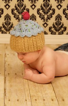 Crochet cupcake hats