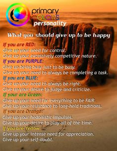 What makes you unhappy? Best colors Personality Test http://www.PrimaryColorsPersonality.com
