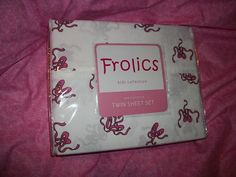 SALE!! SALE!! SALE!! FROLICS KIDS COLLECTION BALLERINA TWIN SHEET SET POLYESTER WHITE PINKNIP