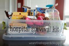 new mom - hospital survival kit