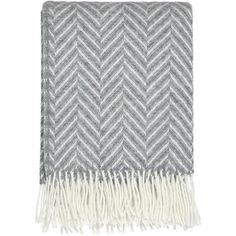 DREAMWOOL Blanket Co. Grey Herringbone Throw (105 CAD) ❤ liked on Polyvore featuring home, bed & bath, bedding, blankets, gray wool blanket, wool throw, gray throw, grey throw and herringbone wool blanket