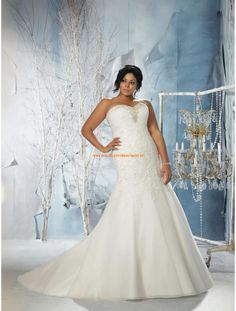 Mori Lee Julietta Glamouröse Dramatische Brautkleider aus Organza mit Perlenstickerei