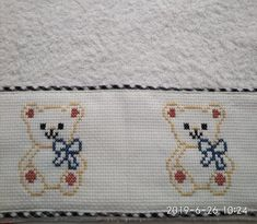 Baby Embroidery, Cross Stitch Embroidery, Embroidery Patterns, Cross Stitch For Kids, Cross Stitch Animals, Ciri, Mini Mouse, Baby Birth, Cross Stitch Designs