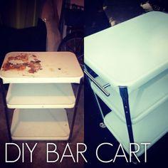 Bar Cart Makeover