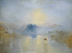 Turner's watercolor Norham Castle, Sunrise, 1835.
