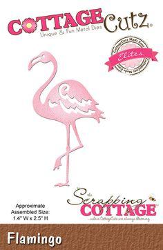 Cottage Cutz - Die - Flamingo (Elites),$7.95