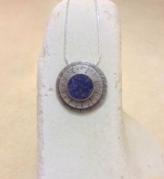 Sodalite pendant, Sterling silver pendant, handmade, Blue necklace,  sodalite,  gemstone, Blue sodalite, gift for her