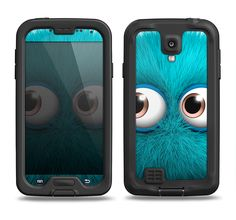 The Teal Fuzzy Wuzzy Samsung Galaxy S4 LifeProof Fre Case Skin Set