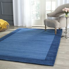 "Breakwater Bay Southbury Hand-Loomed Blue Indoor/Outdoor Area Rug Rug Size: Runner 2'3"" x 10'"