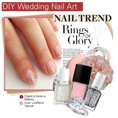 """DIY Wedding Nail Art"" by kusja on Polyvore"