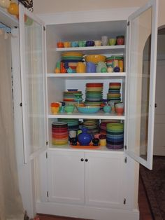 A built in cabinet just for my FiestaWare?  Perfect!