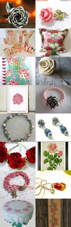 Roses! @QuiddityGifts by Anisa Daud on Etsy--Pinned+with+TreasuryPin.com