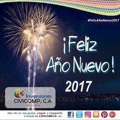 La Familia de Inversiones CiviComp C.A. agradece a todos nuestros amigos, clientes y seguidores por los logros de este 2016, y les Deseamos un 2017 de Salud, Felicidad, Abundancia y Prosperidad, para continuar disfrutando de la vida, de nuevos sueños y deseos...  #civicompca #facebook #google+ #twitter #instagram #pinterest #blogger #siguenos #FelizAñoNuevo2017
