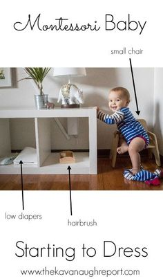 Montessori babies and dressing - preparing your environment as your baby starts to dress