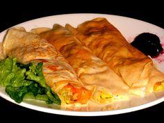 ♥ Mimos de Mãe ♥: Crepe de legumes Waffles, Fresh Rolls, Snacks, Meat, Chicken, Ethnic Recipes, Food, Chocolate, Tortilla Wraps