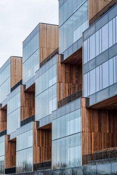 Zespół budynków biurowych PIXEL w Poznaniu  house housing villa modern architecture apartment