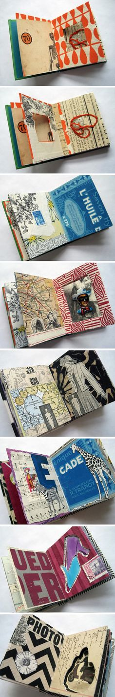 Book Art + Collage by Trish Leavitt, via Behance