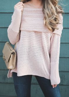 off the shoulder sweater // perfect for fall