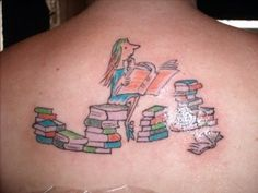 Lover of Books Tattoo in-the-library