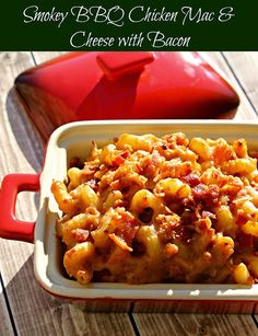 Smokey BBQ Chicken Mac and Cheese with Bacon - because everything's better with bacon #SmokehouseBBQ (sponsored)