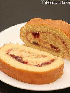 Peanut Butter Jam Swiss Roll